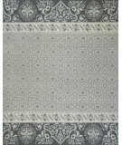 RugStudio presents Rugstudio Sample Sale 100024R Gray/Navy Hand-Knotted, Best Quality Area Rug