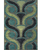 RugStudio presents Feizy Saphir Yardley 3656f Steel / Dark Gray Machine Woven, Good Quality Area Rug