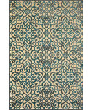 RugStudio presents Feizy Saphir Yardley 3659f Cream / Marine Machine Woven, Good Quality Area Rug