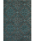 RugStudio presents Feizy Saphir Yardley 3659f Dark Gray / Marine Machine Woven, Good Quality Area Rug