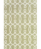 RugStudio presents Feizy Cetara 4105f Green / White Hand-Hooked Area Rug