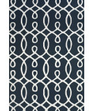 RugStudio presents Feizy Cetara 4105f Navy / White Hand-Hooked Area Rug