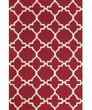RugStudio presents Rugstudio Sample Sale 99782R Red / White Hand-Hooked Area Rug