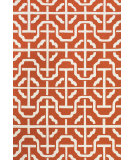 RugStudio presents Feizy Cetara 4109f Orange / White Hand-Hooked Area Rug