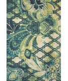 RugStudio presents Feizy Coronado 0520f Navy/Green Hand-Tufted, Better Quality Area Rug
