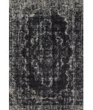 RugStudio presents Feizy Azeri 3845f Black / Ecru Machine Woven, Good Quality Area Rug