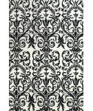 RugStudio presents Feizy Carina 4130f Ebony / White Machine Woven, Better Quality Area Rug