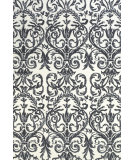 RugStudio presents Feizy Carina 4130f Slate / White Machine Woven, Better Quality Area Rug
