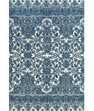 RugStudio presents Rugstudio Sample Sale 99775R Indigo / White Machine Woven, Better Quality Area Rug