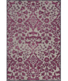 RugStudio presents Feizy Saphir Rubus 3358f Pewter / Raspberry Machine Woven, Good Quality Area Rug