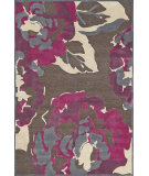 RugStudio presents Feizy Saphir Rubus 3360f Dark Gray / Raspberry Machine Woven, Good Quality Area Rug