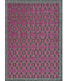 RugStudio presents Feizy Saphir Rubus 3361f Dark Gray / Raspberry Machine Woven, Good Quality Area Rug