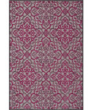 RugStudio presents Feizy Saphir Rubus 3659f Pewter / Raspberry Machine Woven, Good Quality Area Rug