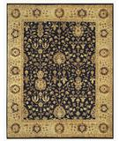 RugStudio presents RugStudio Devin 44595 Black-Beige Hand-Knotted, Best Quality Area Rug
