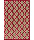 RugStudio presents Feizy Raphia I 105587 Tan/Red Machine Woven, Good Quality Area Rug