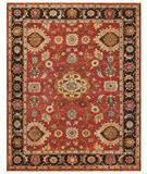 RugStudio presents Famous Maker Juliet 44739 Red-Black Hand-Knotted, Good Quality Area Rug