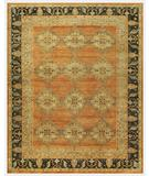RugStudio presents Famous Maker Juliet 44740 Rust-Chocolate Hand-Knotted, Good Quality Area Rug