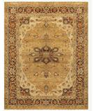 RugStudio presents Famous Maker Juliet 44741 Gold-Brown Hand-Knotted, Good Quality Area Rug