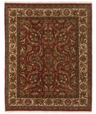 RugStudio presents Famous Maker Eli 44598 Red/Ivory Hand-Knotted, Best Quality Area Rug