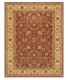 RugStudio presents Famous Maker Amber 44533 Cranberry Ivory Hand-Tufted, Best Quality Area Rug
