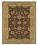 RugStudio presents Famous Maker Maggie 44621 Dark Brown-Green Hand-Tufted, Better Quality Area Rug