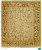 RugStudio presents Hri Anatolian B-153 Ivory - Rust Hand-Knotted, Good Quality Area Rug