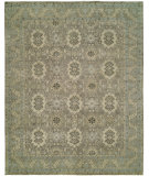 RugStudio presents Rugstudio Sample Sale 99217R Grey - Light Green Hand-Knotted, Good Quality Area Rug