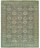 RugStudio presents HRI Antique Artisan LT-4 Blue - Ivory Hand-Knotted, Good Quality Area Rug