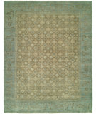 RugStudio presents HRI Antique Artisan LT-5 Light Green - Light Blue Hand-Knotted, Good Quality Area Rug