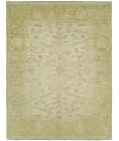RugStudio presents Hri Aria AR-7 Ivory - Gold Hand-Knotted, Good Quality Area Rug