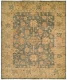 RugStudio presents HRI Oushak B-26 Blue/Gold Hand-Knotted, Best Quality Area Rug