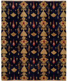 RugStudio presents Hri Creative Ik-158 Navy Blue Hand-Knotted, Good Quality Area Rug