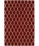 RugStudio presents Hri Dimension V-1001 Red - Ivory Hand-Knotted, Good Quality Area Rug