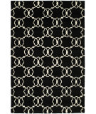 RugStudio presents Hri Dimension V-1002 Black - Ivory Hand-Knotted, Good Quality Area Rug