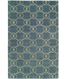 RugStudio presents Hri Dimension V-1002 Blue - Ivory Hand-Knotted, Good Quality Area Rug