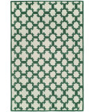 RugStudio presents Hri Dimension V-1003 Ivory - Green Hand-Knotted, Good Quality Area Rug