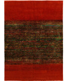 RugStudio presents Hri Heritage Silk Ef-4465 Red - Multi Color Hand-Knotted, Good Quality Area Rug