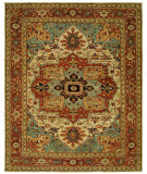 RugStudio presents Hri Antique Heriz 106-B Red Hand-Knotted, Good Quality Area Rug