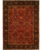 RugStudio presents Hri Antique Heriz 104 Red - Blue Hand-Knotted, Good Quality Area Rug