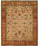 RugStudio presents Rugstudio Sample Sale 68073R Ivory - Rust Hand-Knotted, Good Quality Area Rug