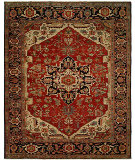 RugStudio presents Hri Antique Heriz 103 Red - Blue Hand-Knotted, Good Quality Area Rug