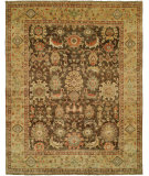 RugStudio presents Hri Mahal MJ-48 Brown - Gold Hand-Knotted, Best Quality Area Rug