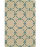 RugStudio presents Hri Metro CC-3003 Beige - Blue Hand-Tufted, Good Quality Area Rug