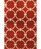 RugStudio presents Hri Metro CC-3004 Red - Ivory Hand-Tufted, Good Quality Area Rug
