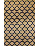 RugStudio presents HRI Metro CC-3018 Ivory - Navy Blue Hand-Tufted, Good Quality Area Rug