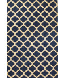 RugStudio presents Hri Metro CC-3019 Blue - Ivory Hand-Tufted, Good Quality Area Rug