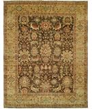 RugStudio presents HRI Mahal MJ-48 Brown Gold Hand-Knotted, Best Quality Area Rug