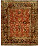 RugStudio presents HRI Mahal MJ-7 Red Charcoal Hand-Knotted, Best Quality Area Rug