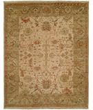 RugStudio presents HRI Newburry Ch-9 Ivory Green Hand-Knotted, Best Quality Area Rug