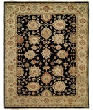 RugStudio presents HRI Newburry Ch-3 Black-Ivory Hand-Knotted, Best Quality Area Rug